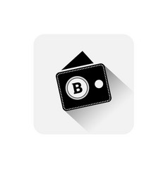 bitcoin wallet icon digital web money crypto vector image
