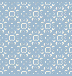 blue ornamental floral seamless pattern geometric vector image