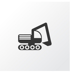 bulldozer icon symbol premium quality isolated vector image