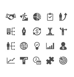 Business glyph icons vector
