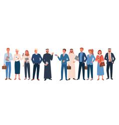 Business office worker people diversity set happy vector
