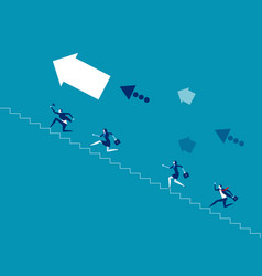 Business team climb stair concept vector