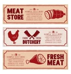 Butchery Horizontal Banners Set vector image