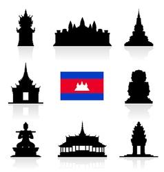 Cambodia icon vector