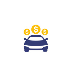 car payments icon on white vector image