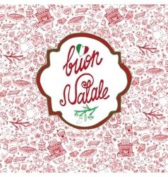 ChristmasNatale cardPattern backgroundlabel vector image