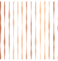 copper foil hand drawn vertical lines pattern vector image