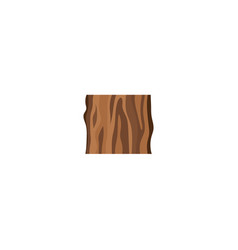 cut tree trunk or sample wood icon flat vector image