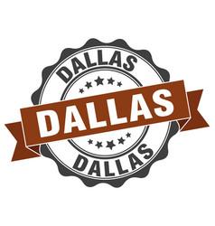 Dallas round ribbon seal vector