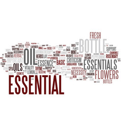 Essential word cloud concept vector