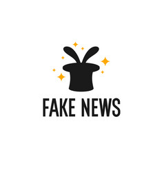 fake news image a magician s top hat on a vector image