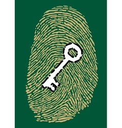 Fingerprint and security key vector image