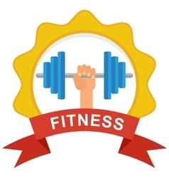Fitness logo color vector