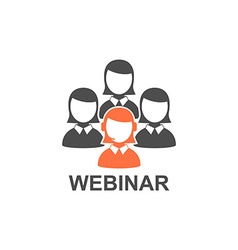Flat design webinar icon Online education vector image