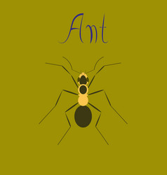 Flat icon on background ant vector