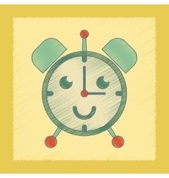Flat shading style icon kids alarm clock vector