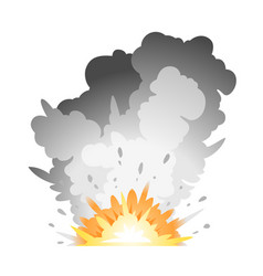 Ground bomb explosion vector
