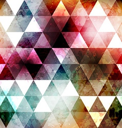 grunge space color triangle seamless texture vector image