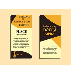 Happy Fathers Day flyer template with mustache and vector