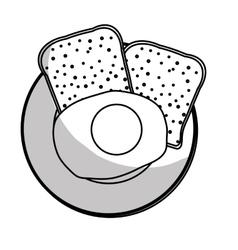 healthy food emblem image vector image