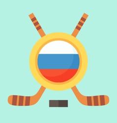 Hockey in Russia vector image