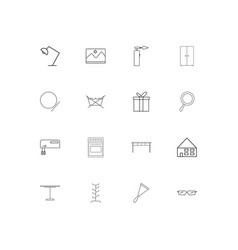 home appliances and equipment simple linear icons vector image