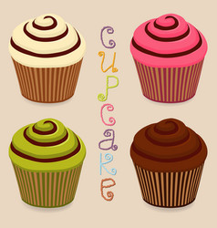 Icon logo for whole berry cupcake vector