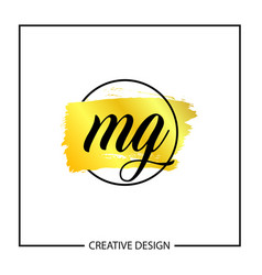 Initial mg letter logo template design vector
