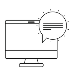 Isolated bubble and computer design vector