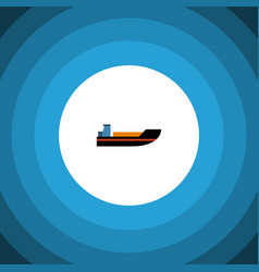 isolated ship flat icon boat element can vector image