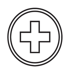 Medical symbol circle with a cross vector