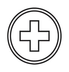 Medical symbol circle with a cross vector