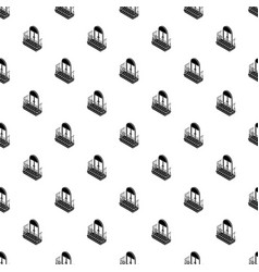 metal balcony pattern seamless vector image