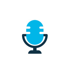 microphone icon colored symbol premium quality vector image
