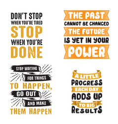 motivational quote and saying set vector image