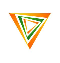 Multi dimensions triangle symbol logo design vector