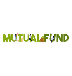 Mutual fund investing money financial management vector