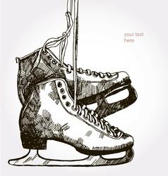 Retro skates vector