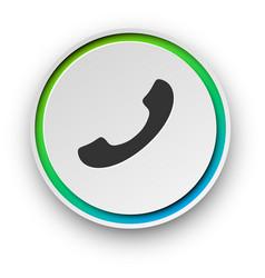 round spectrum call button vector image