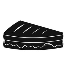 Sandwich icon simple black style vector