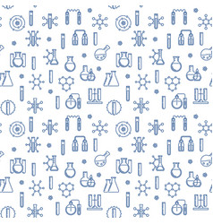 science and chemistry outline seamless vector image