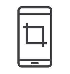 Screenshot line icon web and mobile camera sign vector