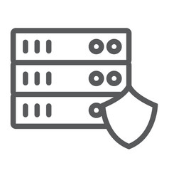 server protection line icon privacy and security vector image
