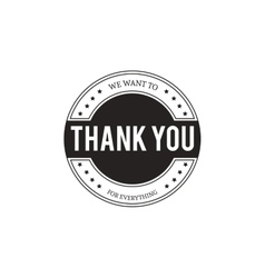 Set of badges with thank you graphics and design vector