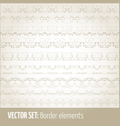 set of border elements and page vector image