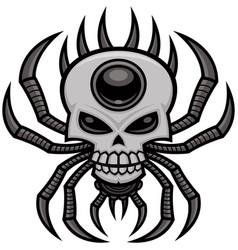 Skull spider vector