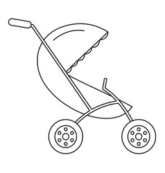 small pram icon outline style vector image