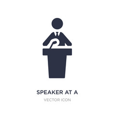 Speaker at a conference icon on white background vector
