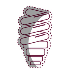 Sticker save bulb energy icon vector