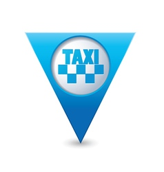 Taxi icon map pointer3 blue vector